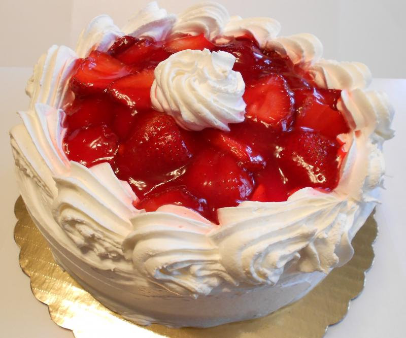 Cake With Whipped Cream Frosting And Strawberries : Mario s Bakery, Inc. - Home